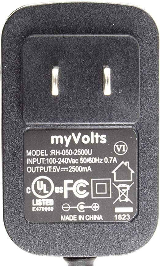 RMV Advanced Performance Circulation Booster MyVolts 5V UK plug power supply compatible with Revitive Advanced Performance