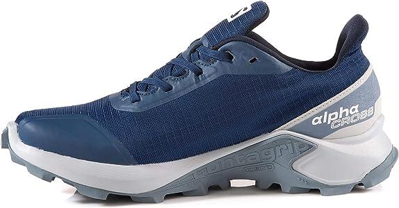Salomon ALPHACROSS GTX W, Zapatillas de Trail Running para Mujer, Azul Sargasso Sea Pearl Blue Flint Stone, 36 EU: Amazon.es: Zapatos y complementos