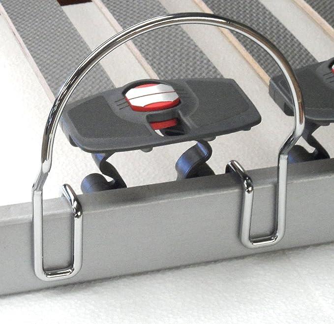Accesoires-litterie - Lote de 4 topes de colchón laterales (aptos para soporte de 20 mm): Amazon.es: Hogar