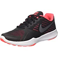 NIKE Performance Lightweight No-Show Running Shoes (Black/Metallic Cool Grey/Solar Red)