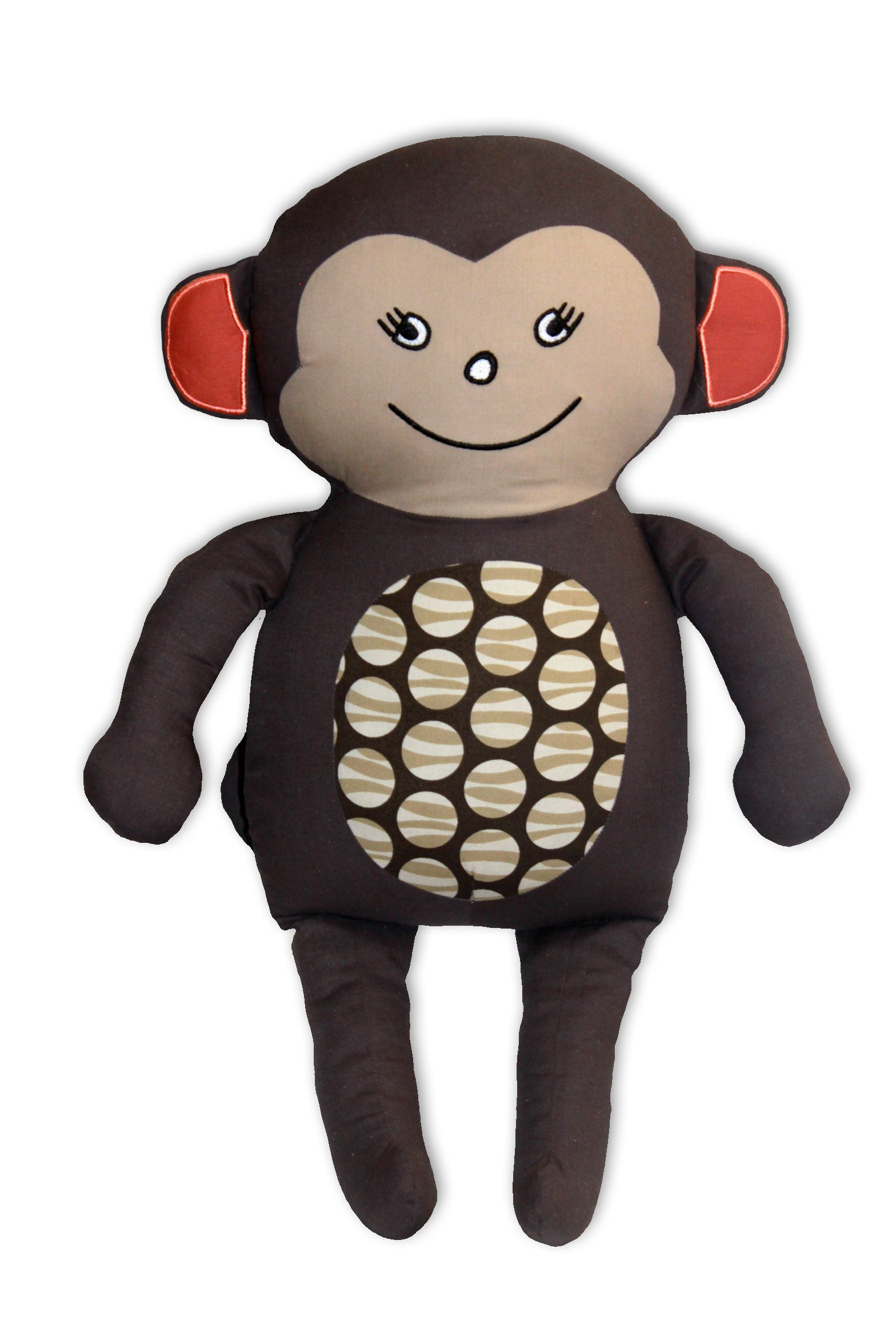 African Dream Monkey Brown Decorative Nursery Safari Animal Accessory Pillow