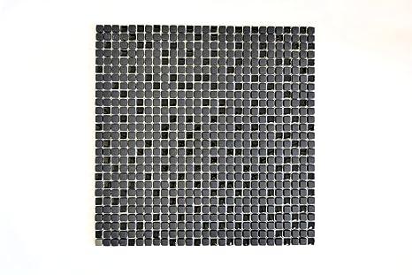 Piastrelle mosaico enamel tessere di mosaico in vetro opaco nero