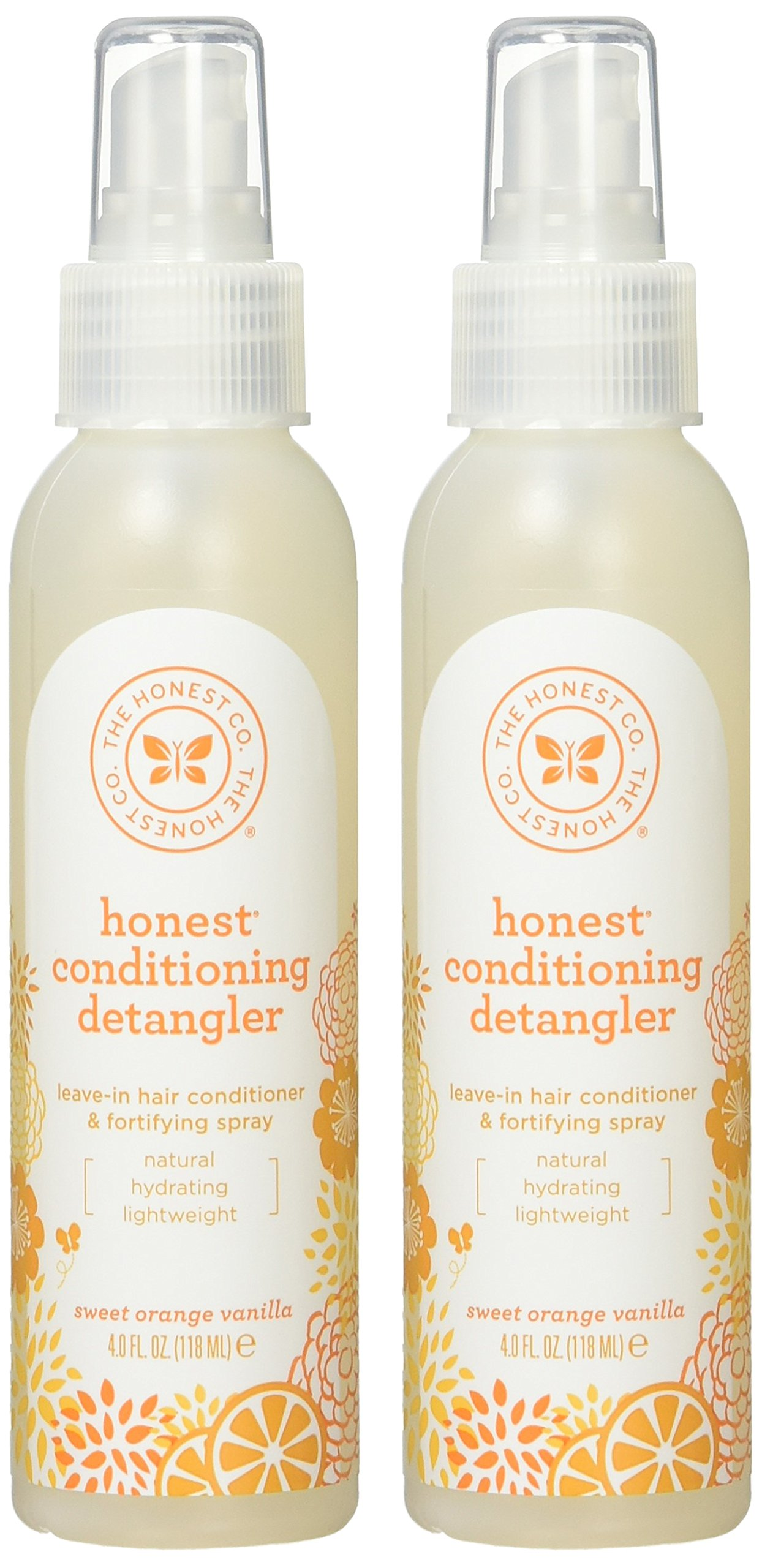The Honest Company - Conditioning Detangler, Leave-In Conditioner and Fortifying Spray - Sweet Orange Vanilla, 4 fl oz (2 Pack) by The Honest Company (Image #2)