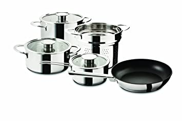 Amazon com Mepra Gourmet Everyday Cookware Set Kitchen u0026 Dining