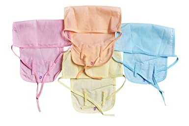 Yashline Cotton Multicolor Baby Kids Nappies  Pack of 4