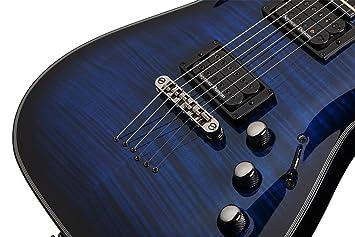 Schecter Blackjack Slim Line Series C-1 6 cuerdas Guitarra eléctrica, color negro satinado, con pasivo Pastillas: Amazon.es: Instrumentos musicales