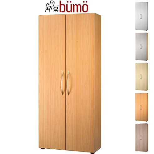 Büroschrank holz  Bümö® Aktenschrank aus Holz | Büroschrank für Aktenordner ...