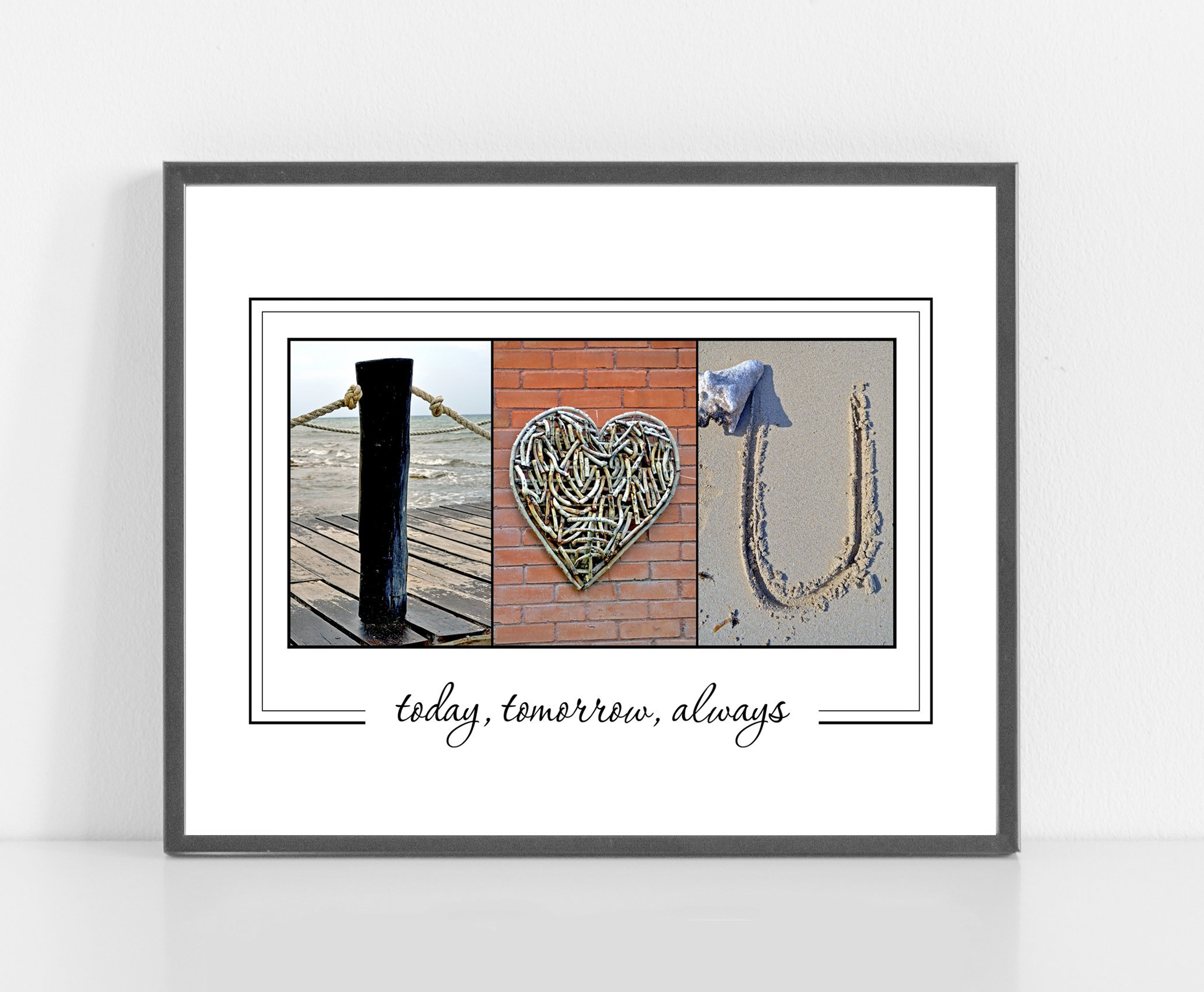 I LOVE U - Personalized Alphabet photography - UNFRAMED 8x10 print - for Couples in Love -Anniversary or Wedding gift- Valentine's day gift