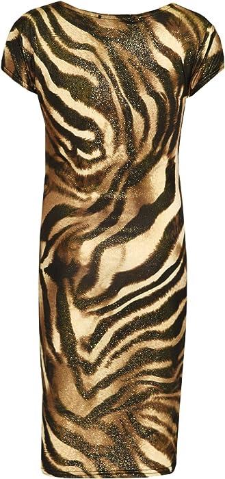 e4dc36180 Amazon.com: A2Z 4 Kids® Kids Girls Tiger Shiny Print Stylish Midi ...