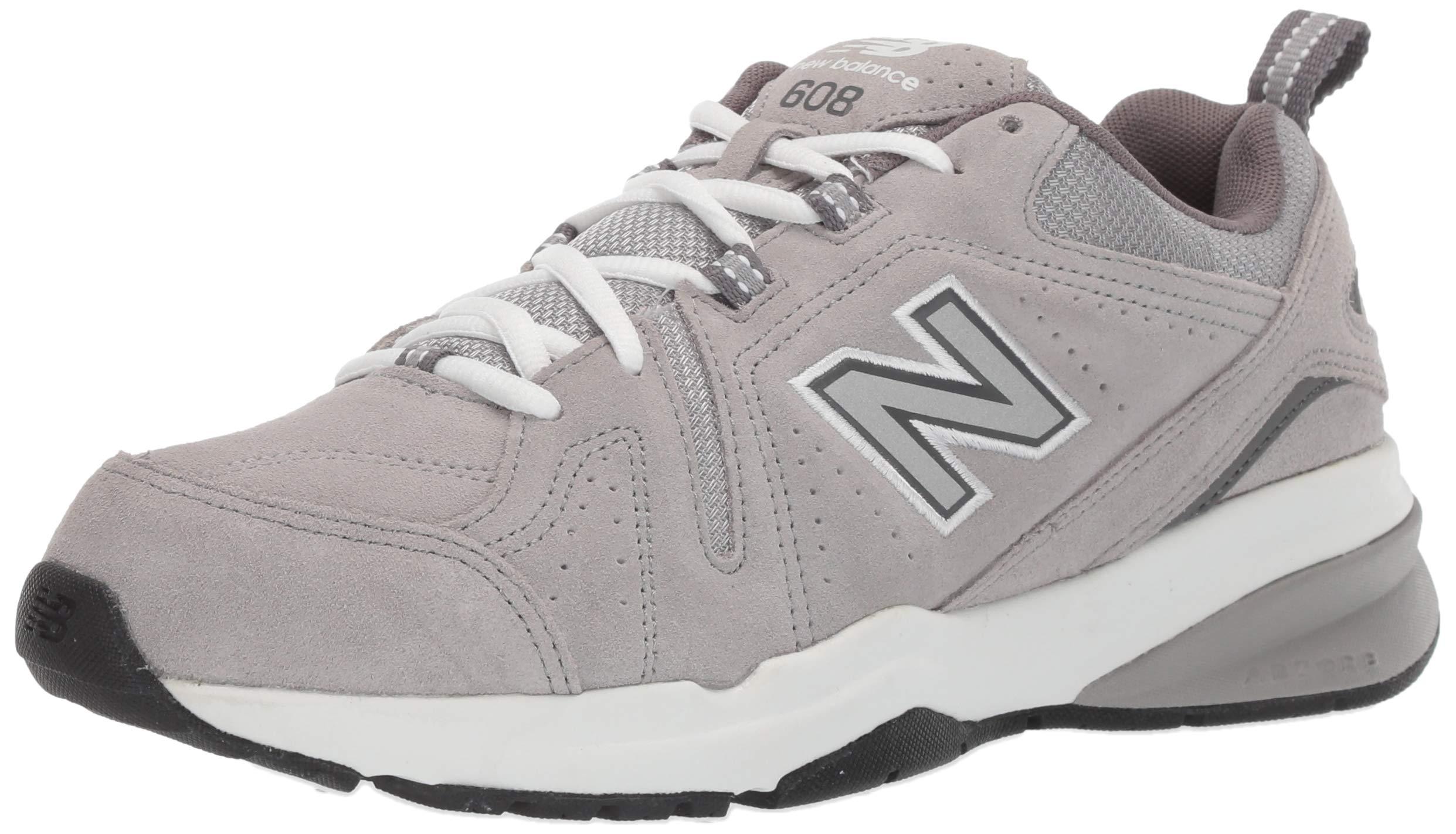 New Balance Men's 608v5 Casual Comfort Running Shoe, Grey Suede, 6.5 D US