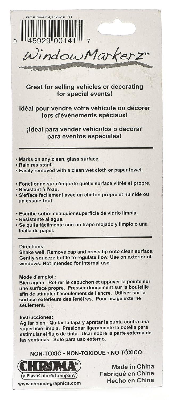 Amazon.com: Chroma 000141 White 48 ml/2.05 Window Markerz Accessory: Automotive