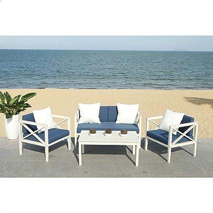 Amazon Com Delray 4 Piece Sofa Seating Group With Cushions Garden Outdoor
