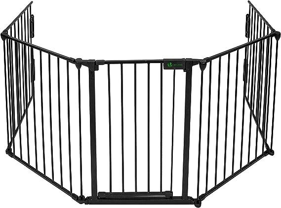 Barrera de seguridad de 5 paneles | Pantalla de la chimenea | Cerca de la chimenea | Puerta del hogar | Guardia de seguridad para bebés | Perro de mascotas gato gato