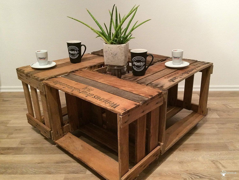 Tisch Aus Alten Weinkisten Chilli Milli Kuche Haushalt Handmade Produkte