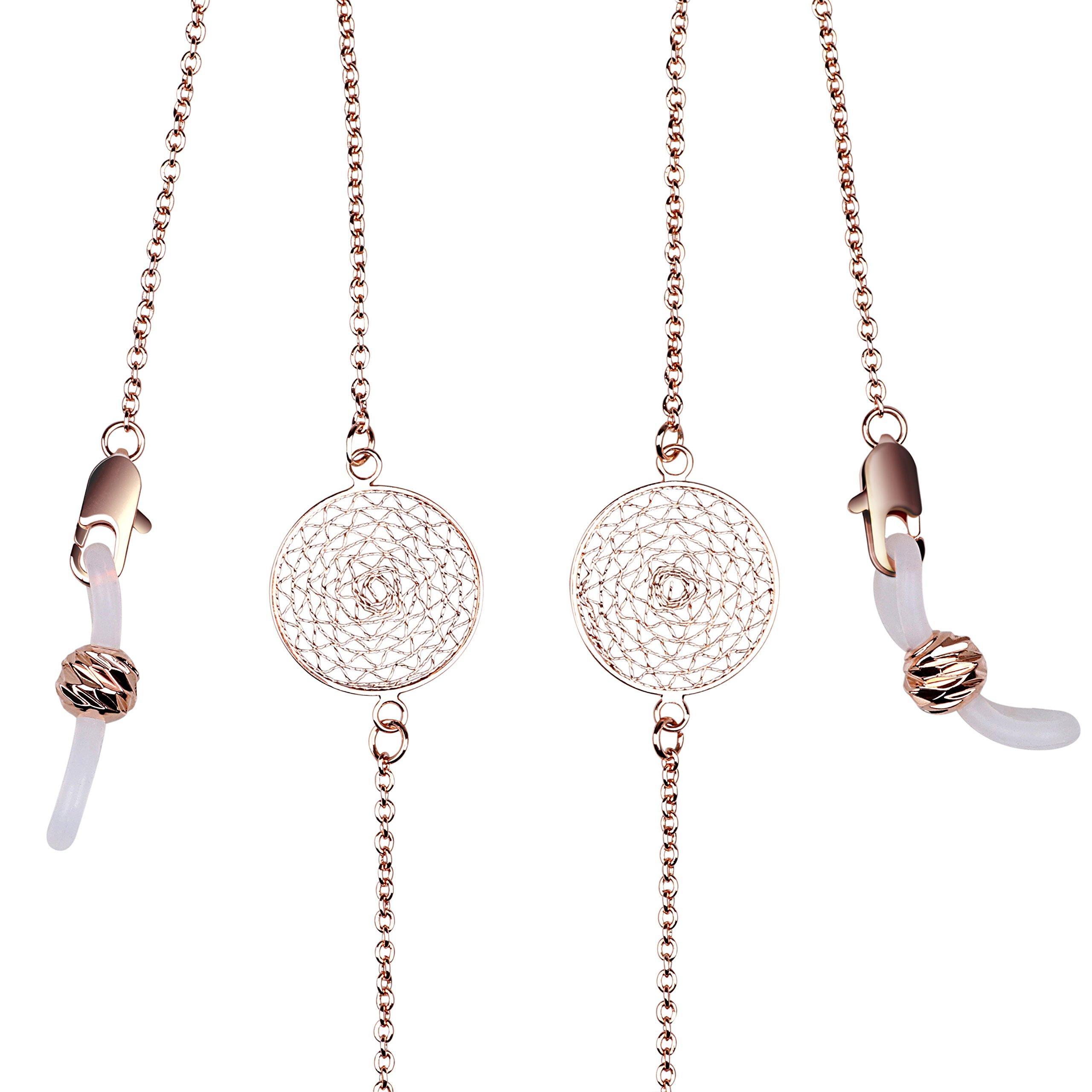 Eyeglass Chain Holder for Women Sunglasses & Galsses Holder Strap (Rose Gold)