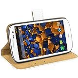 mumbi Ledertasche im Bookstyle für Samsung Galaxy S3 i9300 / S3 Neo Tasche weiss