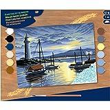 KSG - Senior Painting by Numbers Harbour Sunrise