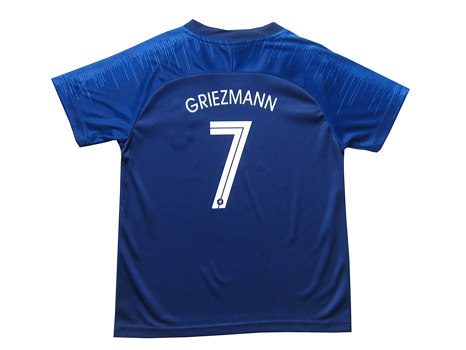 d4198a007794 Amazon.com   2018 France Antoine Griezmann  7 Kylian MBAPPE  10 Home Blue  Kids Soccer Football Jersey Socks Shorts Youth Sizes   Sports   Outdoors