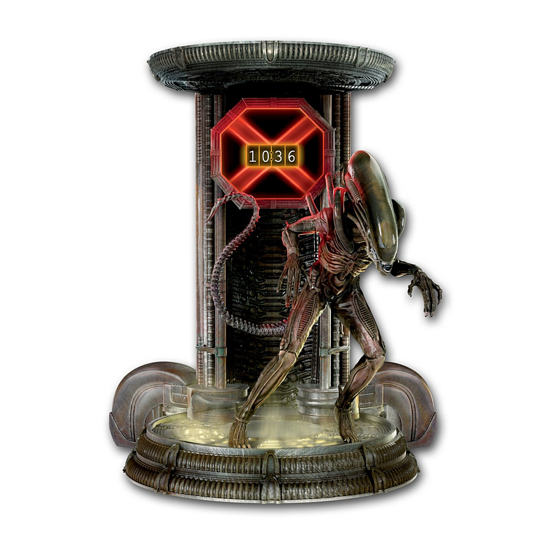 Alien Illuminated Digital Clock with Xenomorph Figure by The Bradford Exchange