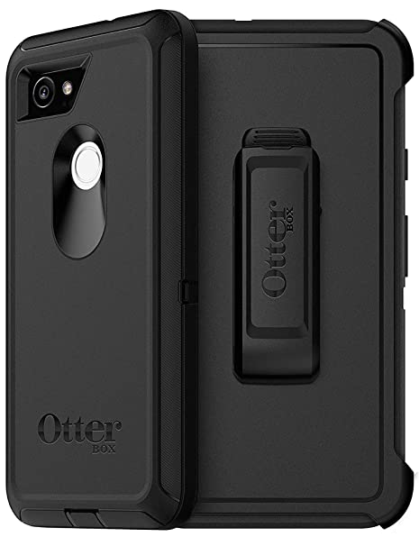 reputable site b93bd 3d6dd OtterBox Defender Series Case for Google Pixel 2 XL (ONLY) - Non-Retail  Packaging - Black