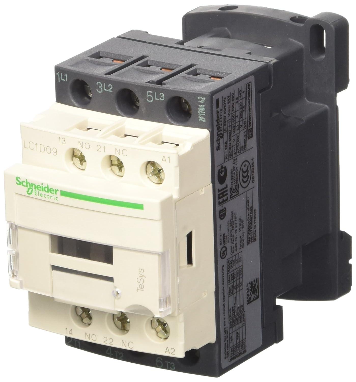 Schneider Electric LC1D09B7 Tesys D, Contactor, 3P Ac-3, 440 V 9 A, Bobina 24 V Ca