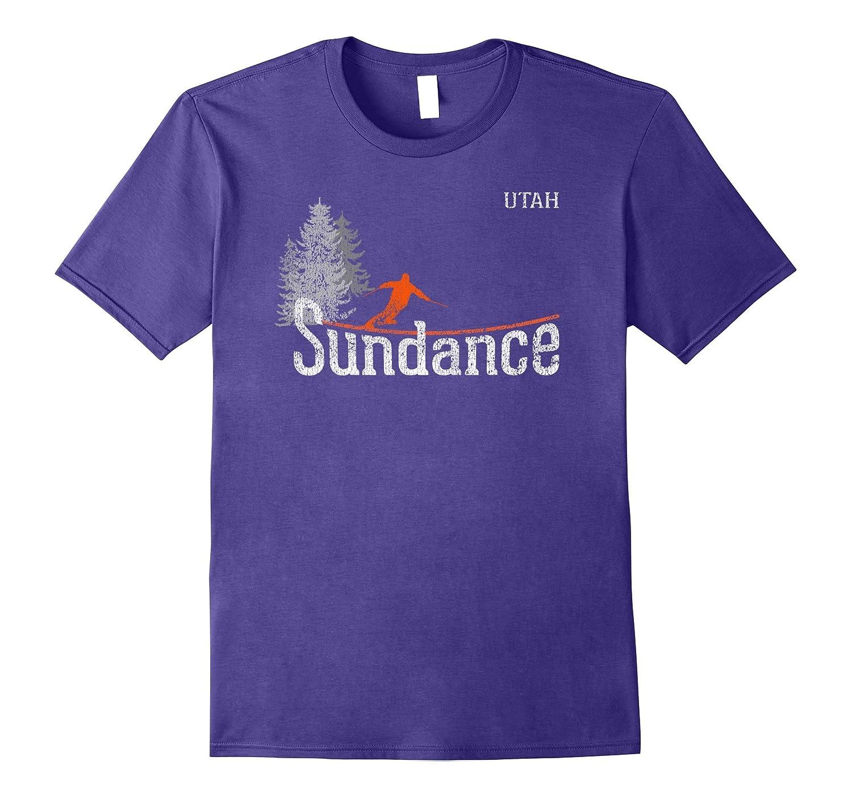 1980s Style Sundance Utah Vintage Skiing T Shirt-FL