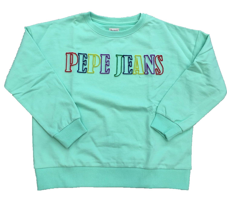 Pepe Jeans - PG580886 Lucia 640 Sea Green - Sudadera Logo - NIÑA: Amazon.es: Ropa y accesorios