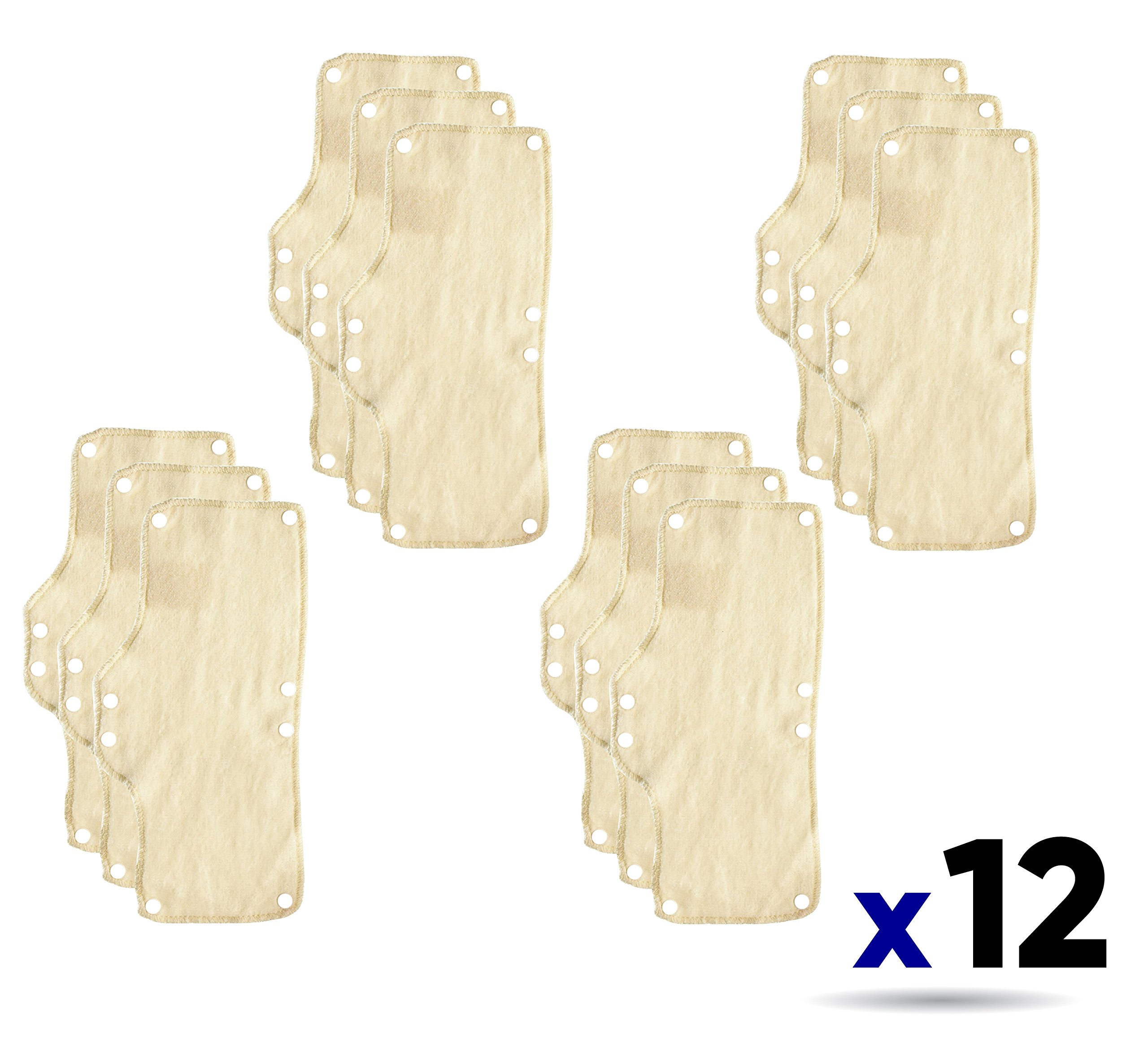 12PK Occunomix 870 Terry Toppers Snap-On Sweatband for Headgear-Beige