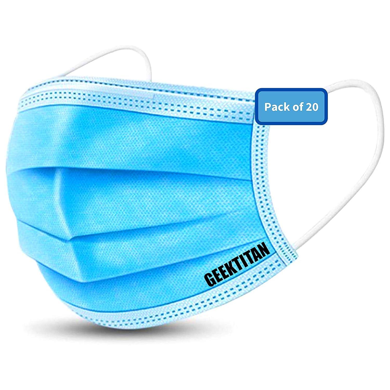 Disposable 3-Layer Protective Masks (20-pcs)