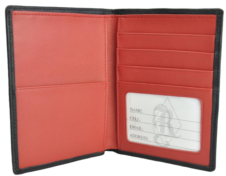 RFID Blocking Passport Travel Document Wallet in Genuine Leather RFID222-5