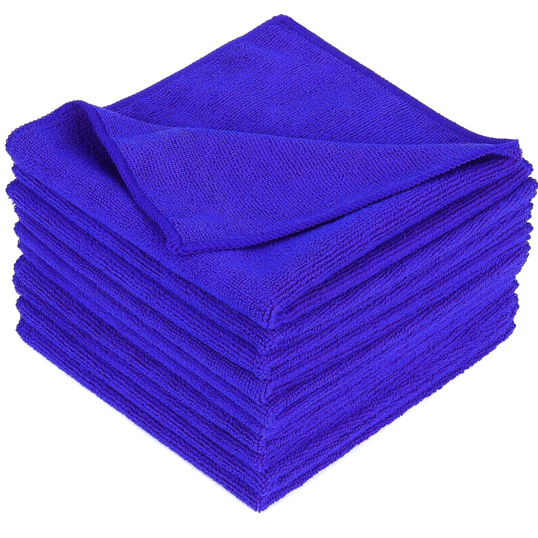 10 Unidades Limpieza de Secado Pulido sin Pelusas para Coche se Puede Lavar a m/áquina SurePromise Pa/ños de Limpieza de Microfibra