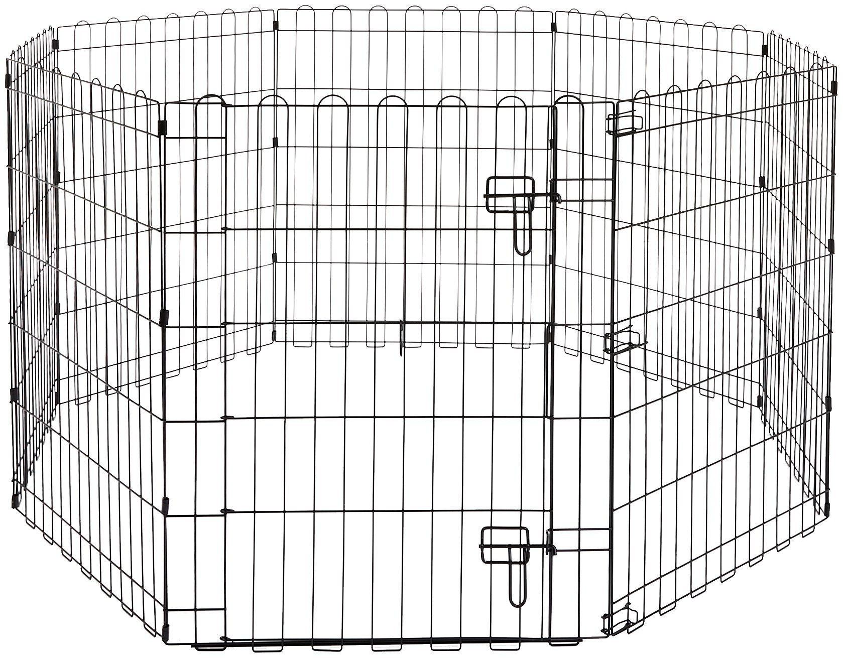AmazonBasics Foldable Metal Pet Exercise and Playpen with Door, 30''