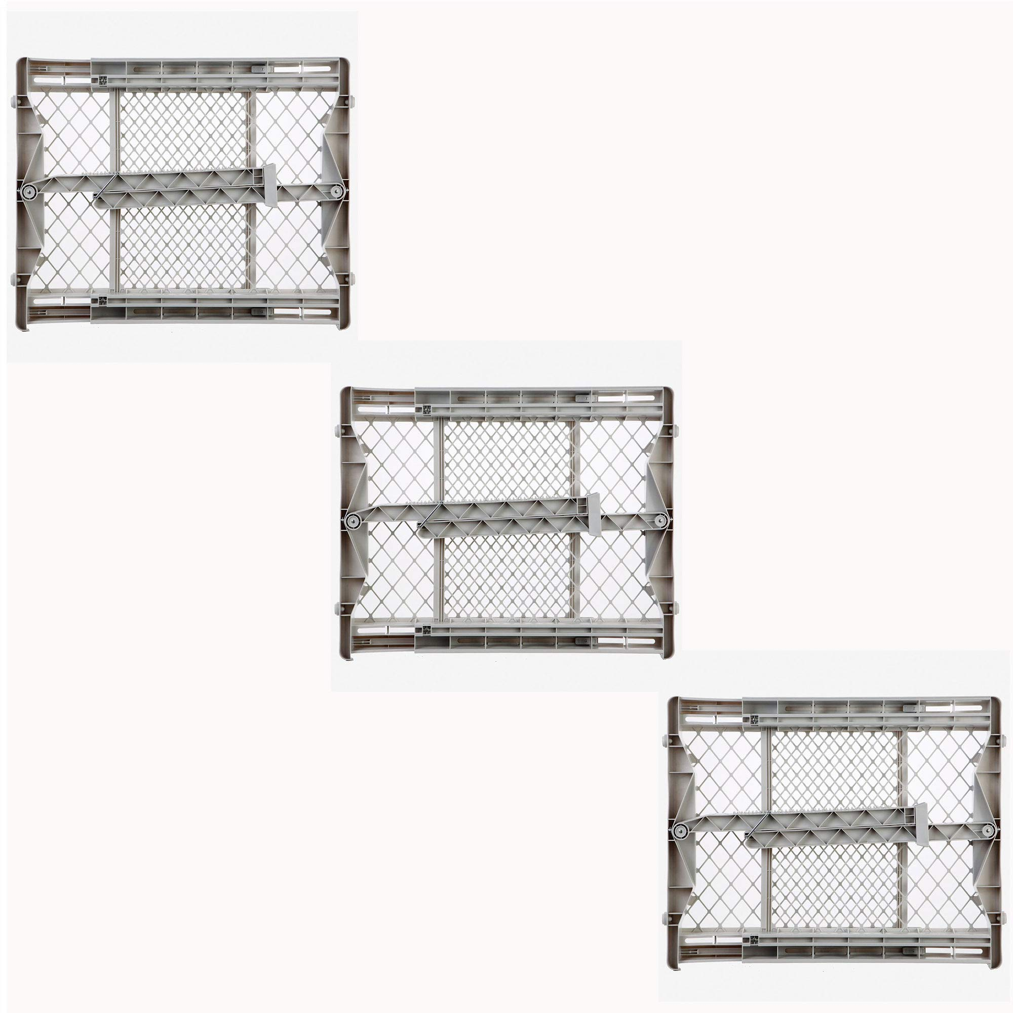 North States Top Notch Plastic Pressure Mounted Baby Pet Safety Gate (3 Pack)