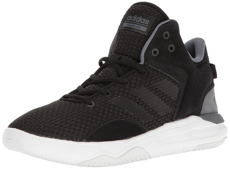 buy popular 455d3 7ca6b Adidas Neo Mens Cloudfoam Revival Mid Basketball Shoes BlackBlackOnix  Factory Sale 69G602