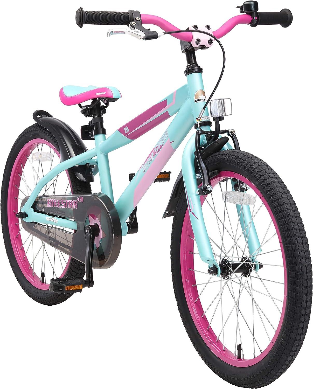 BIKESTAR Bicicleta Infantil para niños y niñas a Partir de 6 años | Bici de montaña 20 Pulgadas con Frenos | 20