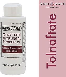 Tolnaftate Antifungal Powder 1% by Geri-Care   Athlete's Foot Care   45g Bottle