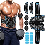 Muscle Toner Abdominal Toning Belt ABS Toner Body Muscle Trainer Wireless Portable Unisex Fitness Training Gear for Abdomen/A