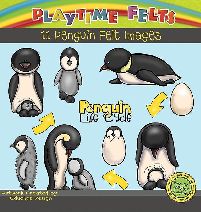 Playtime Fieltros pingüino Ciclo de Vida Juego Historia de Fieltro para Tabla de Franela, sin Cortar: Amazon.es: Juguetes y juegos