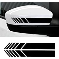 CVANU Car Rearview Mirror Strip Sticker Vinyl Racing Decal Emblem For Honda BRV(Black)