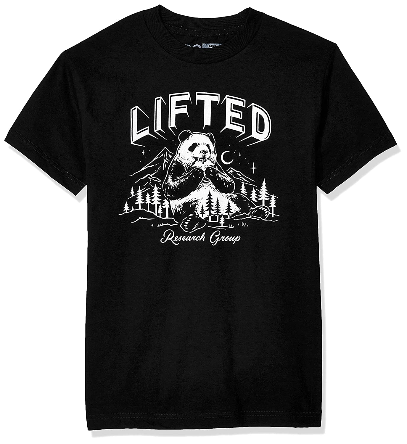 LRG Mens Lifted Research Collection Graphic Panda T-Shirt T-Shirt