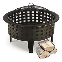 Feuerkorb XL schwarz Fire Basket ✔ rund