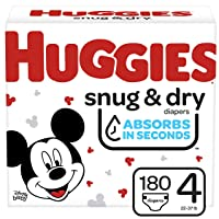 Deals on 180 Ct Huggies Snug & Dry Baby Diapers, Size 4