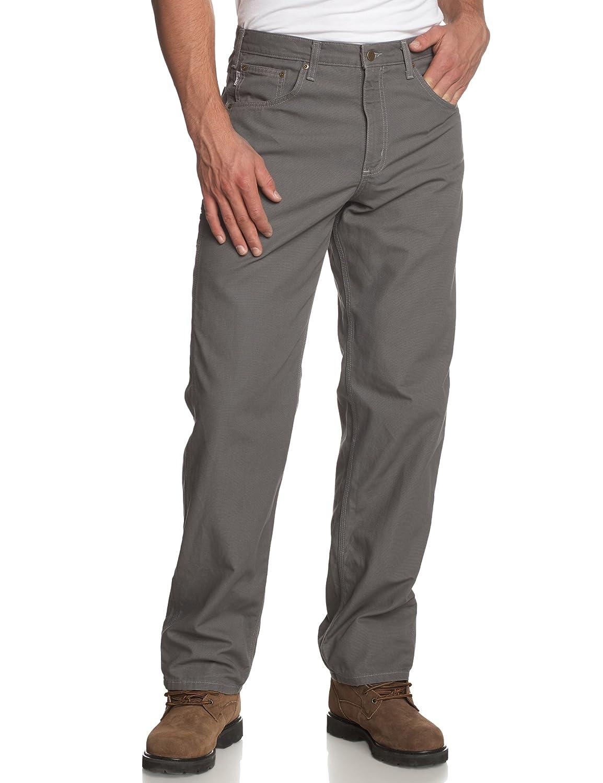 Carhartt B159 大工用パンツ メンズ ゆったりフィット 5つのポケット付き キャンバス生地 B000GHRZM8 40W x 32L|チャコールグレー チャコールグレー 40W x 32L
