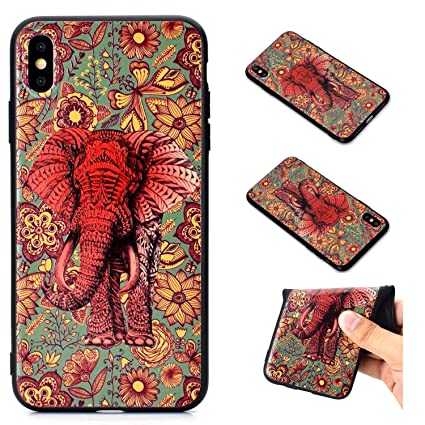 505955d8fc2a2 iPhone Xs Max Case, Tznzxm Fashion 3D Embossing Colorful Cartoon Painting  Relief Slim Fit Protective Bumper Flexible Soft Rubber Gel TPU Skin Shell  ...