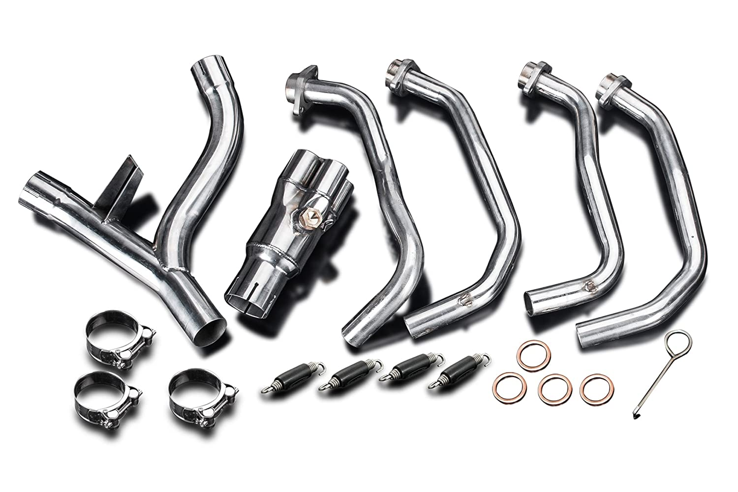Delkevic 4-2 Headers Kawasaki Z1000 Stainless Steel Exhaust 10-16