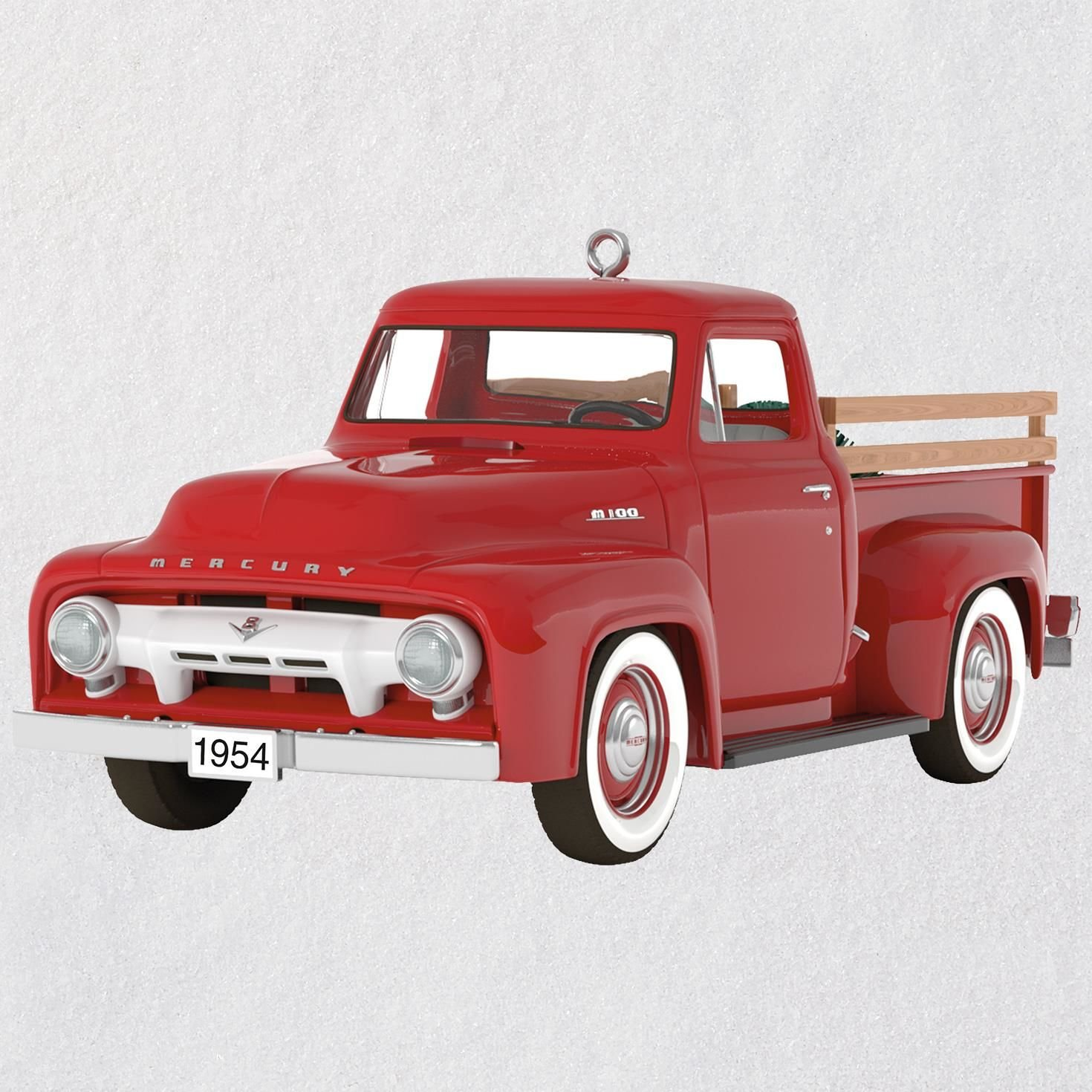 Hallmark Keepsake Christmas Ornament 2018 Year Dated, All-American Trucks 1954 Mercury M-100, Metal