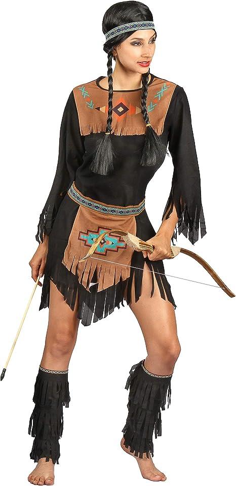 Generique - Disfraz India Mujer Negro S: Amazon.es: Juguetes y juegos