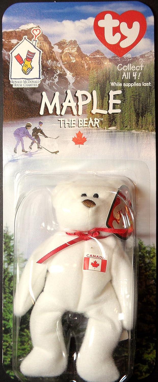 09037bff4dc Teenie Beanies - 1999 Maple Canadian Bear - Mcdonald s Ty Teenie Beanie Mip  - 1999