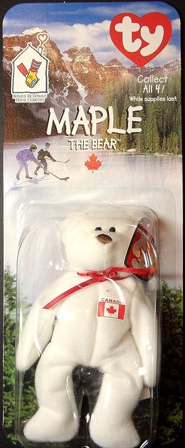 Amazon.com  Maple Canadian Bear - McDonald s Ty Teenie Beanie MIP ... 8f1426b3d99