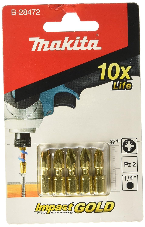 Makita Torsion bit PZ2-25 5 Pieces B-28472.